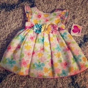 Youngland Baby Easter Dress 18m NWT